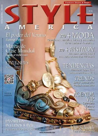 STYLE AMERICA Fashion, Shoes & Bags. cover Dolce & Gabbana - wonderful flat golden sandal.
