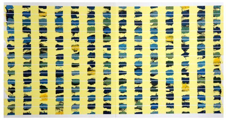 Ohne Titel, Acryl auf Tesa auf Papier, ca. 45x65cm, 2017