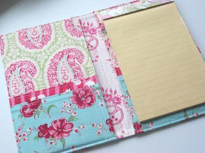 Niesz Vintage Home...and fabric: Fabric Folder Portfolio for Tutorial 5X8 notepad