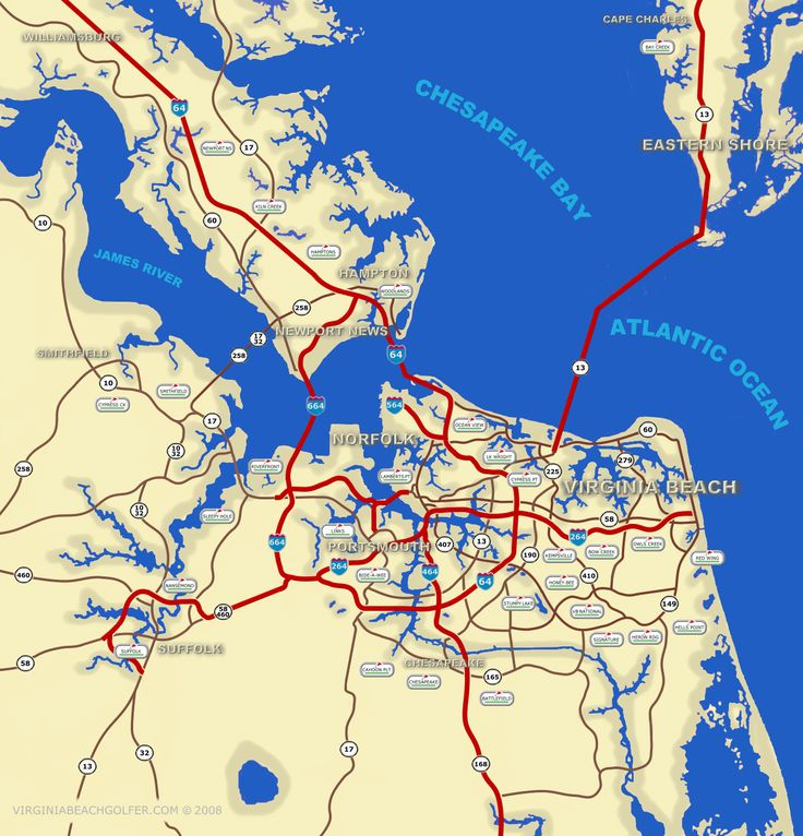 virginia beach   from topographic map dealers Map of Virginia