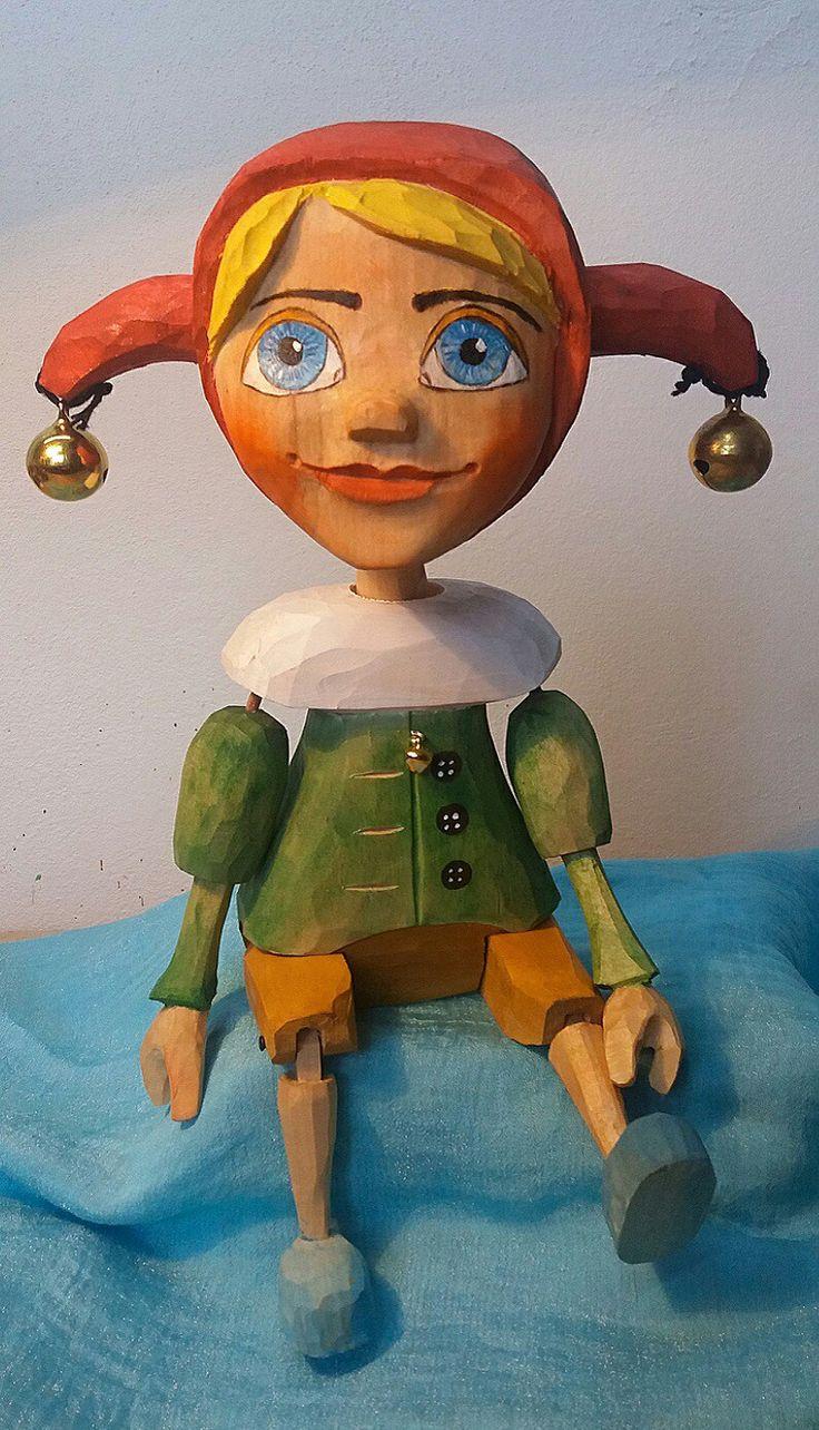 Jester,kašparek, loutka, puppet, marionette- was born 2018