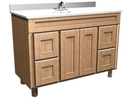 This Cabinet In A Dark Stain Flush With The Floor Briarwood 48 W X 18 D X 34 5 H