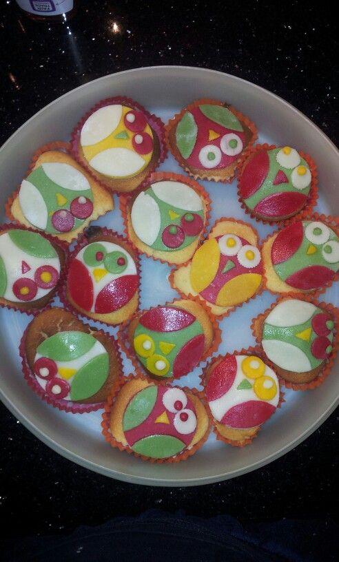 Super leuke cupcakes  Ik ben er trots op:)