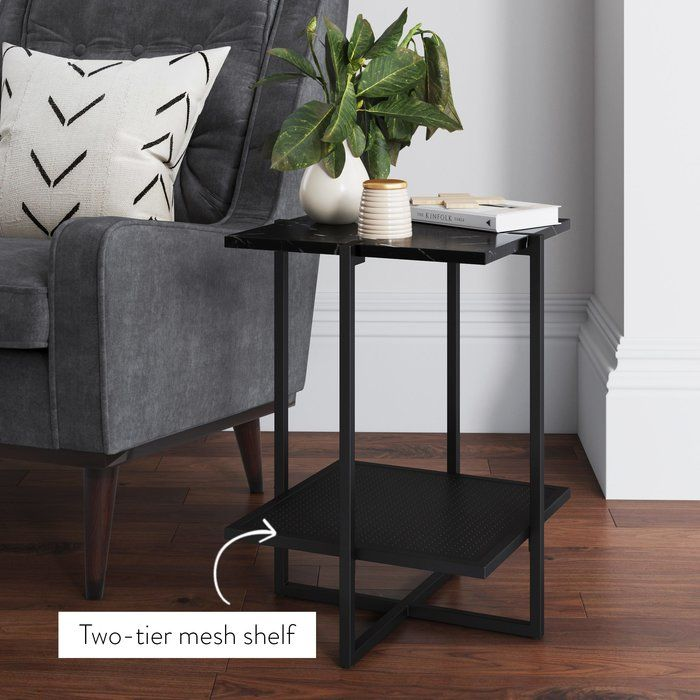 Regena End Table With Images Modern Furniture Living Room Marble Side Tables Contemporary Side Tables