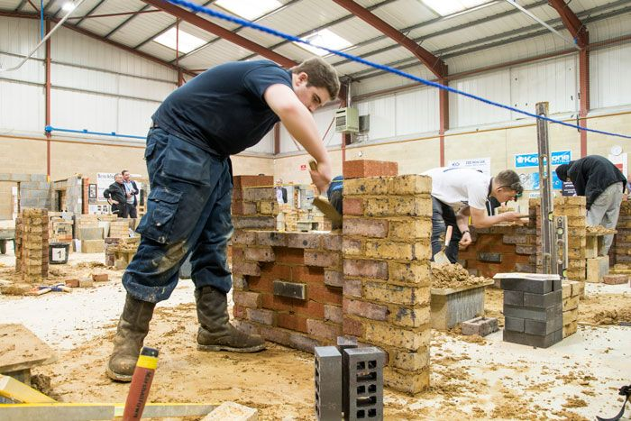 Inter-college construction competition organised by Brooklands College and sponsored by MBH PLC, 14th April 2016.