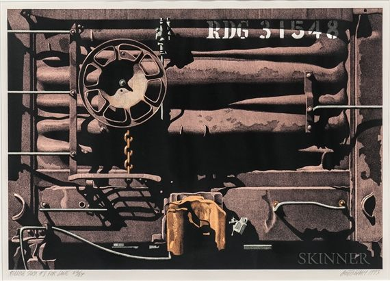 Robert Cottingham - Rolling Stock #8 for Jane; Creation Date: 1993; Medium: Color lithograph on paper; Dimensions: 45.42 X 65.4 cm.