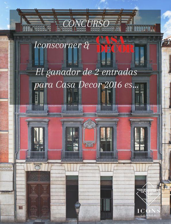 #CONCURSO @CasaDecor 2016| El ganador de dos entradas gratis es...  #casadecormadrid2016