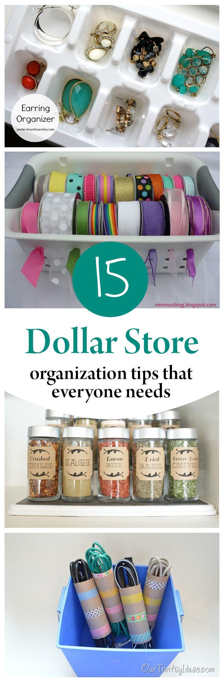 15 Dollar Store Organization Tips That Everyone Needs