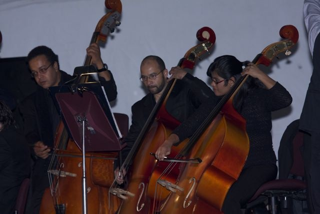La Orquesta Sinfónica haciendo la banda sonora de Filmación Colombia.  Crédito Miltón Ramírez/MinCultura 2012