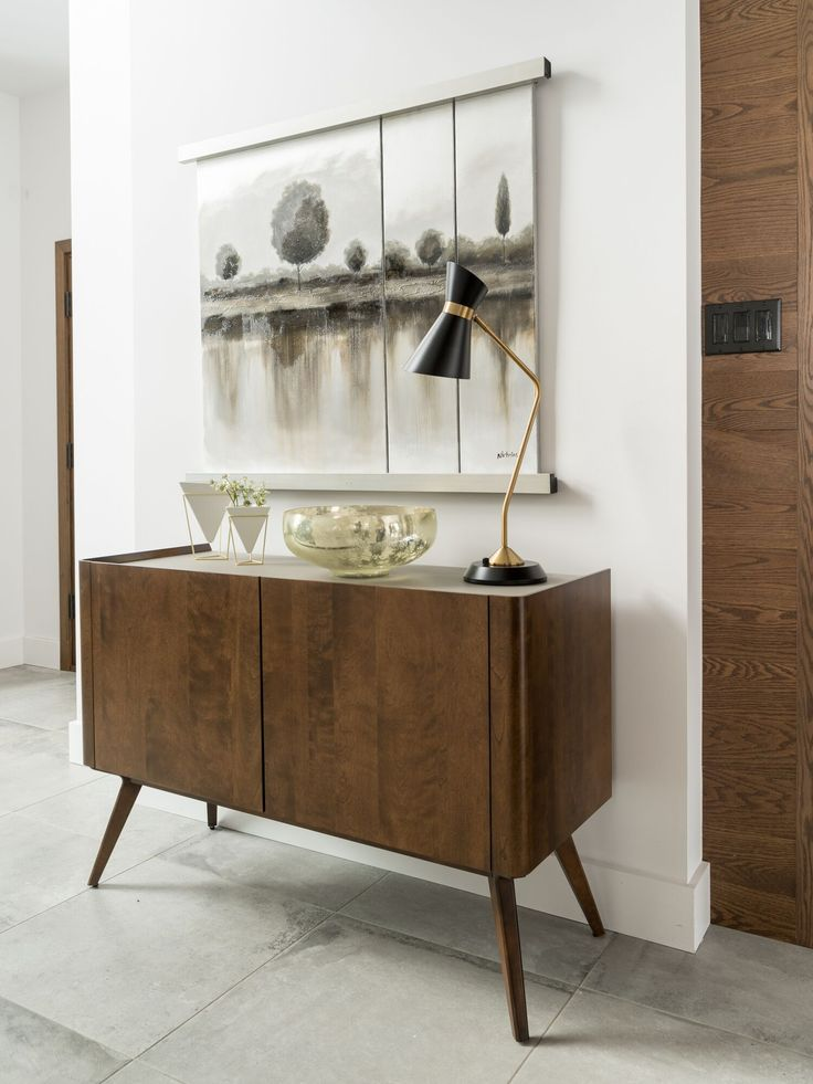 This Downtown buffet's sleek style makes it perfect for the entryway but it  would look as