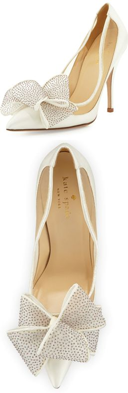 Kate Spade omg if I was shorter I would rock these on the wedding day!