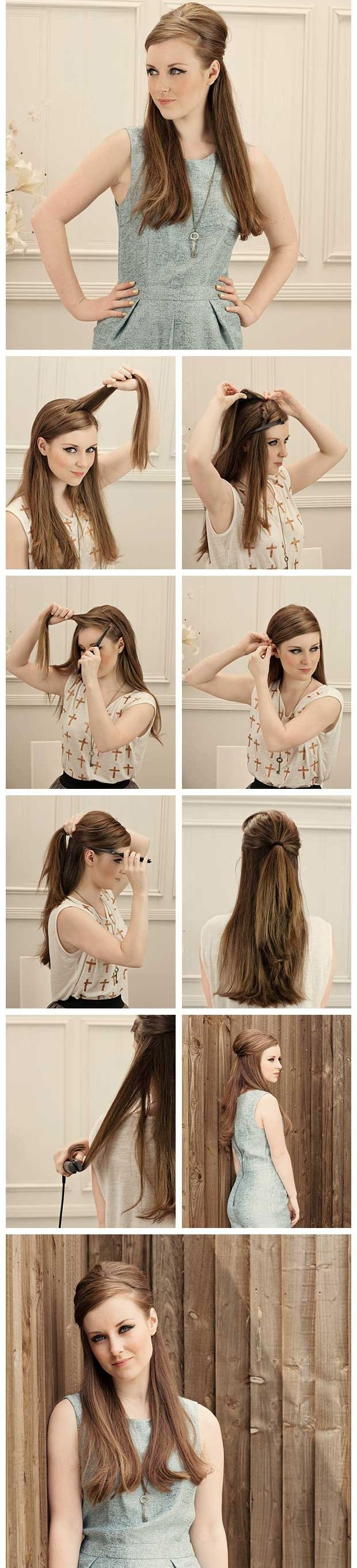 How to: Half Up Baby Bouffant #howdoyoudo?