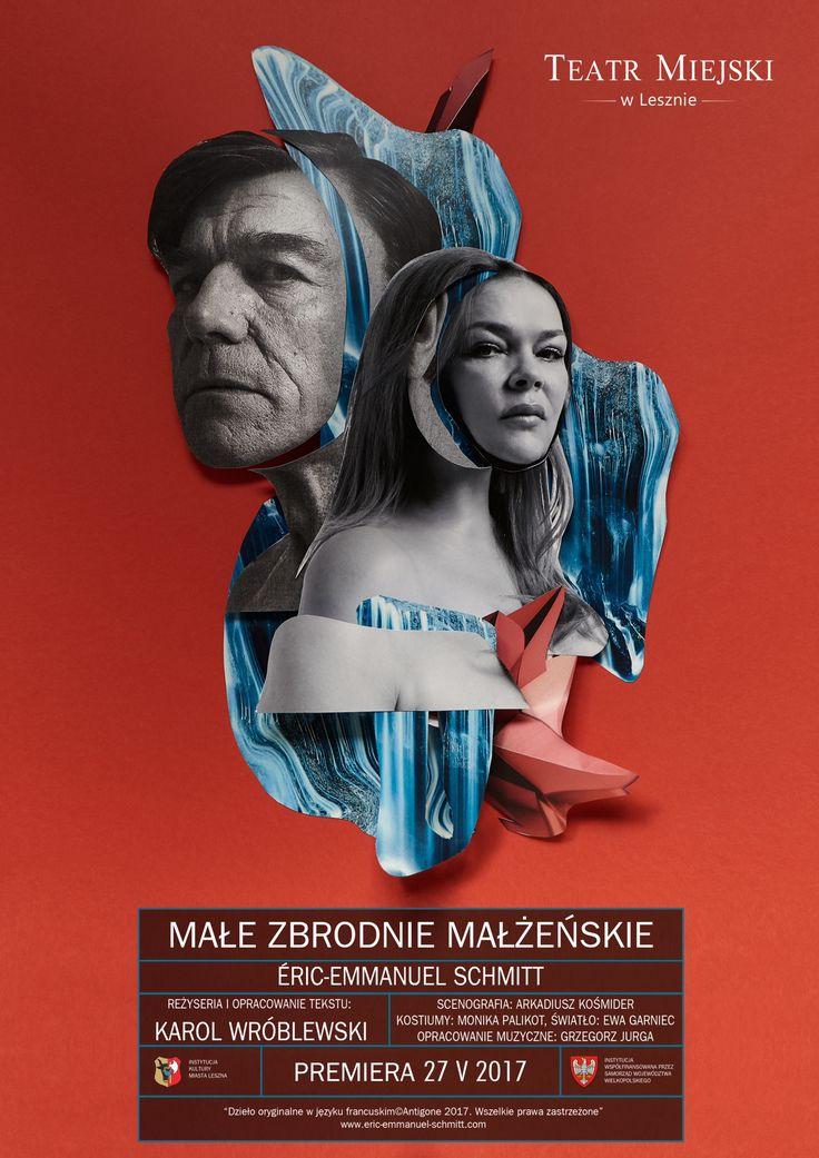 Małe zbrodnie małżeńskie - Petits crimes conjugaux - Eric-Emmanuel Schmitt - plakat spektaklu