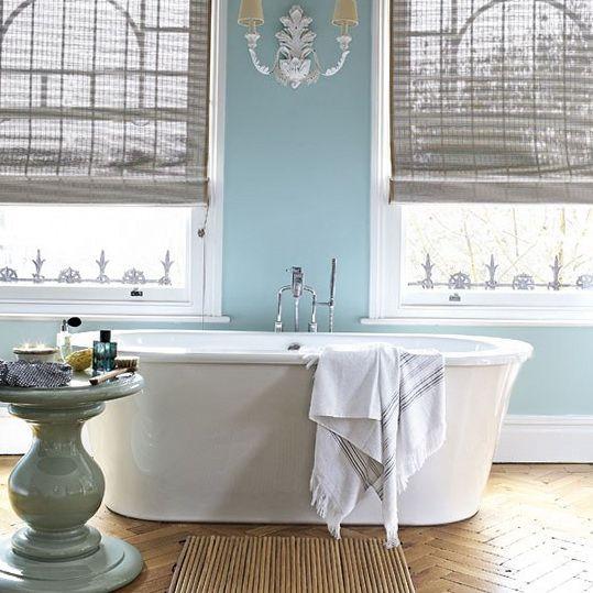 Blue/gray bathroom combo