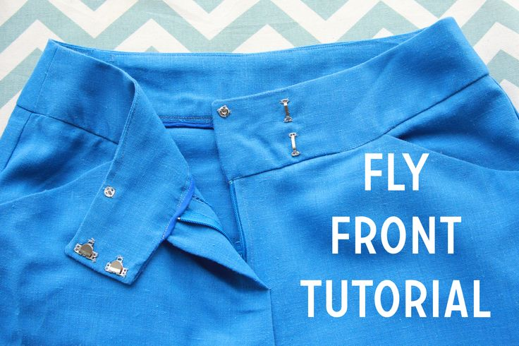 Sewing a fly front, with detailed pictures! Fly front tutorial by Caitlin from Coletterie.com.