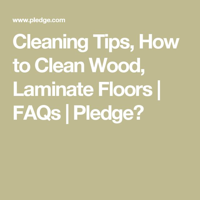 Cleaning Tips, How to Clean Wood, Laminate Floors   FAQs   Pledge�
