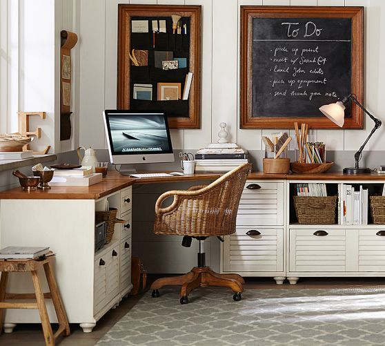 Whitney Corner Desk Set   Pottery Barn. 17 Best images about Offices on Pinterest   Solid oak  Bookcases