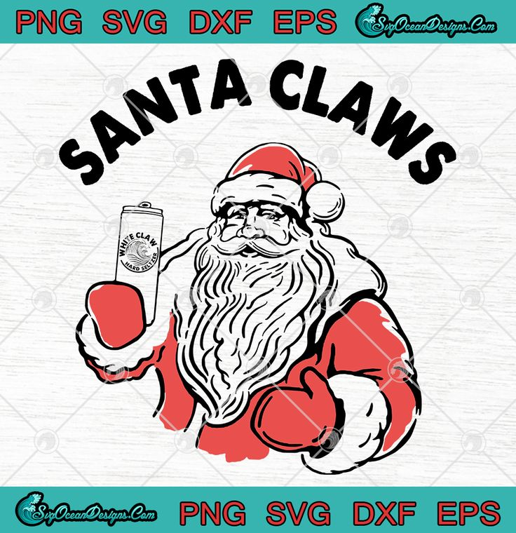 Santa Claws Christmas Svg Png Eps Dxf Digital Download