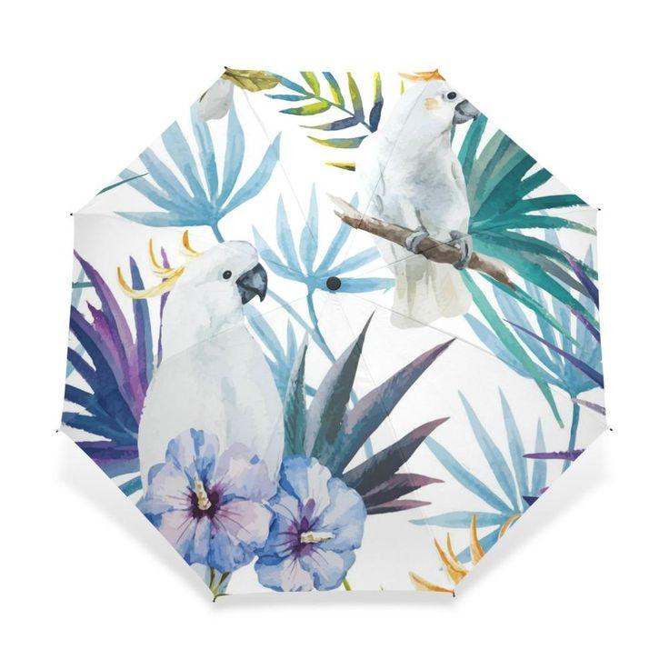 Tropical Macaw Wind Resistant Umbrella