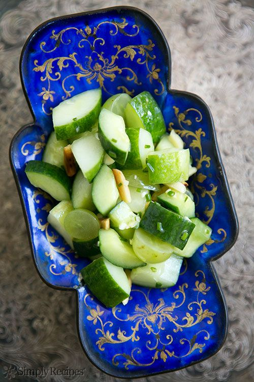 Cucumber Salad with Grapes and Almonds Recipe | Simply Recipes