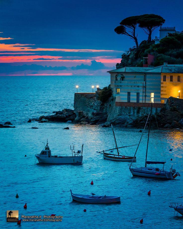 East Bay of Sestri Levante, Riviera Ligure di Levante, Ligurian Sea, Genoa Italy