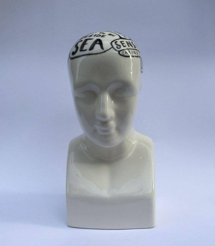 Michael Chandler  Zodiac Phrenologies Cancer Hand Painted Glazed Ceramic  R 1 800