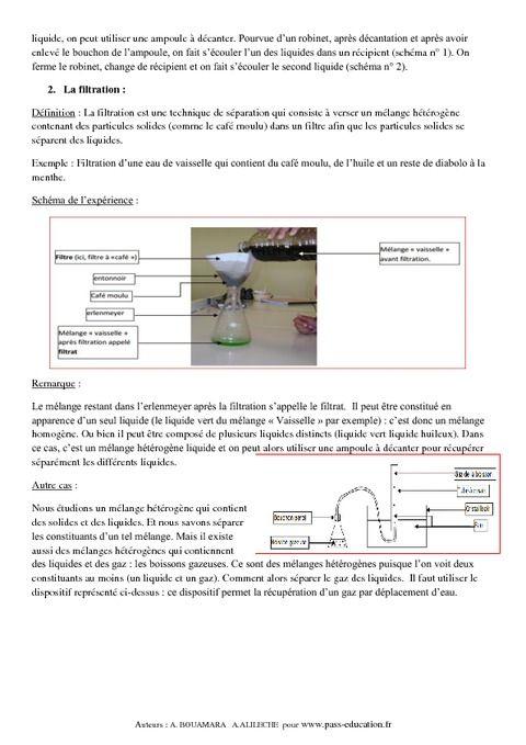 Mélanges aqueux – Cours – 5ème – Physique – Chimie – Collège - Pass Education