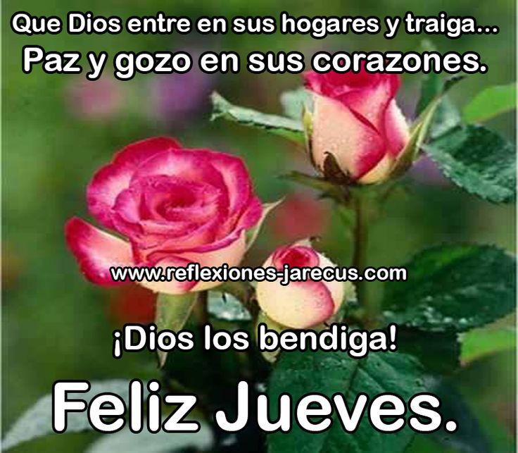 Feliz jueves, que Dios los bendiga y les traiga paz