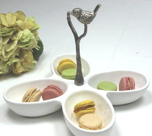 Villa Maison Ceramic Dish W Bird Handle