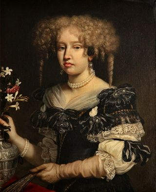 Portrait of a lady said to be Ippolita Obizzi Campeggi by Benedetto Gennari, c. 1660s