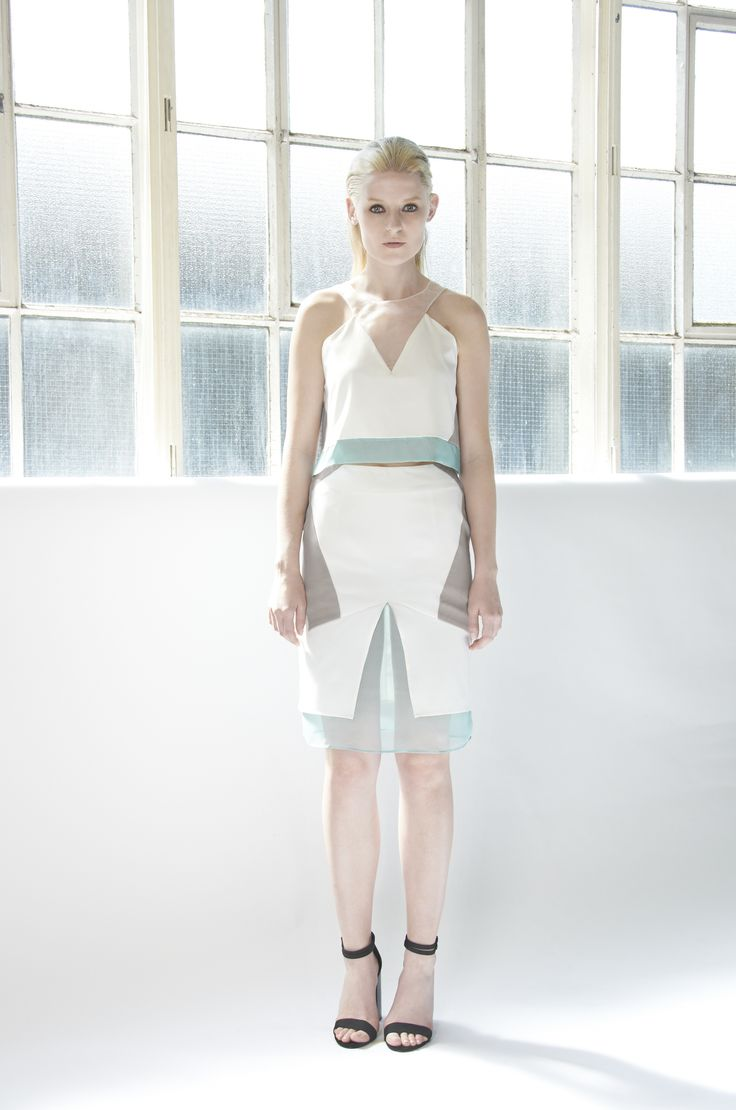 NOVA Multi-layered top with contrast and sheer panelling details.  Multi-layered skirts with contrast and sheer panelling details. http://www.lui-s.co/ #MakersAndDoers #inspiration #fashion