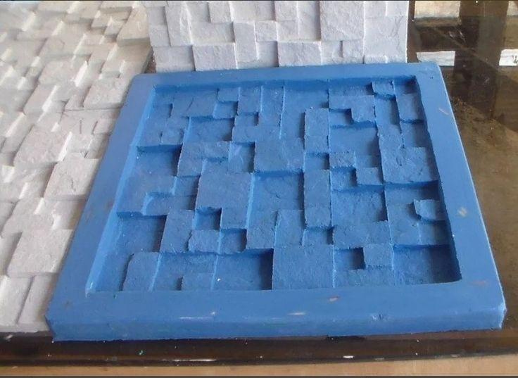 Formas para placa de gesso 3d, moldes de silicone