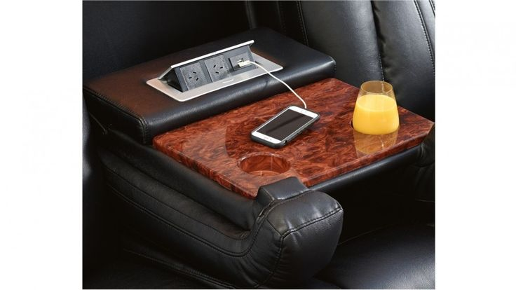 Fold down centre console/armrests with power outlets and drink holders