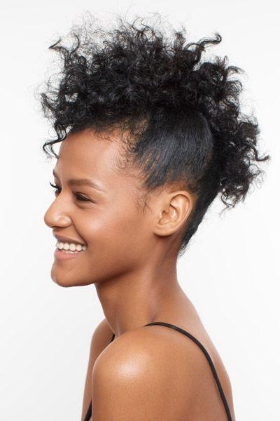 tutorial faux-hawk Natural Hair How-To: Curly Faux Hawk  - Seventeen.com