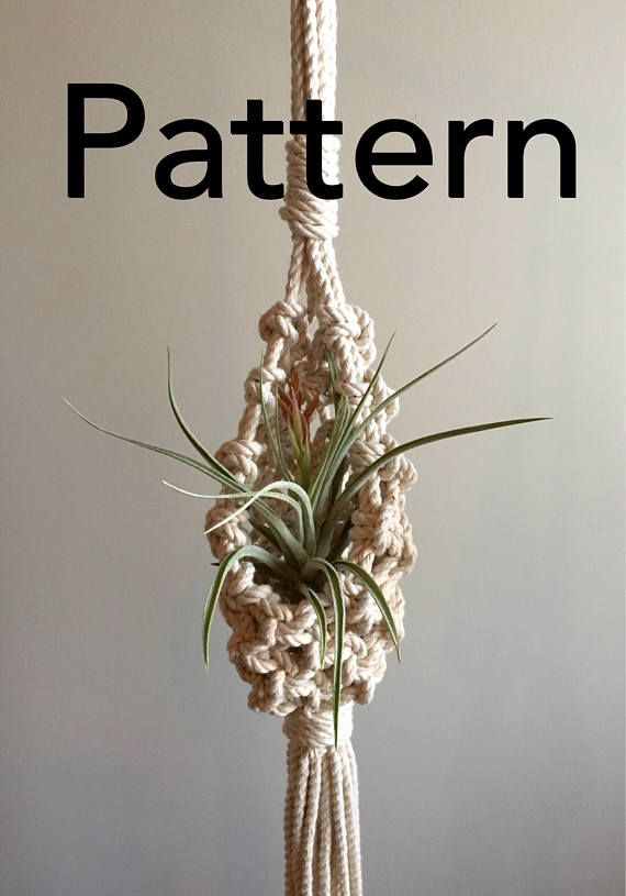 Delicate image with free printable macrame plant hanger patterns