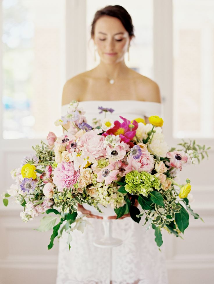 Colorful floral inspiration on Style Me Pretty by Amy Nicole Photography, Charlottesville wedding photographer