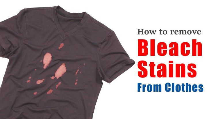 How To Remove Bleach Stains From Clothes No Need To Wash Require Only Two Minutes Youtube Remove Bleach Stains Stain On Clothes Bleaching Clothes