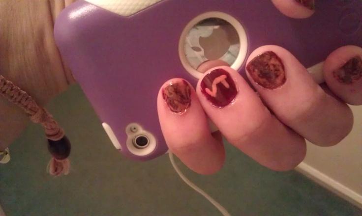 Virginia Tech nail art. Go Hokies! thegame https//www