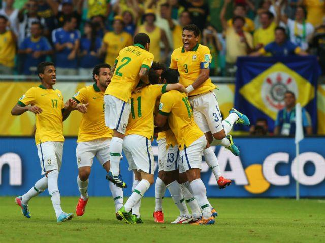26-jun-13 - #Seleção de #Futebol do #Brasil busca seu Quarto Título na COPA das CONFEDERAÇÕES, frente ao URUGUAI (Getty Images)