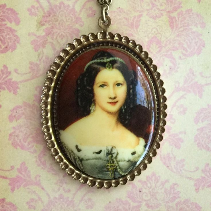 Porcelain Cameo Necklace by Silver Trumpet Jewelry on Etsy