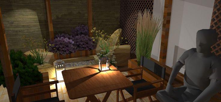 Projekt aranżacji tarasu -trzy kroki, Terrace design project