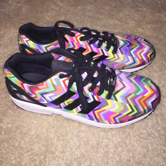 Adidas ZX Flux 10.5 Slightly used adidas ZX Flux shoes.... make offer Adidas Shoes Athletic Shoes