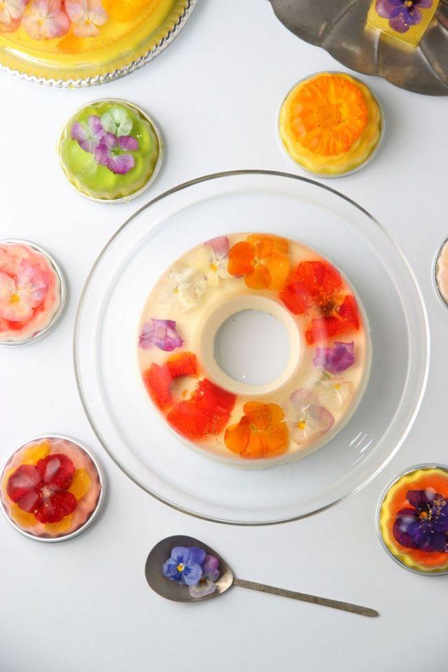 Increíble gelatina de flores                                                                                                                                                                                 Más