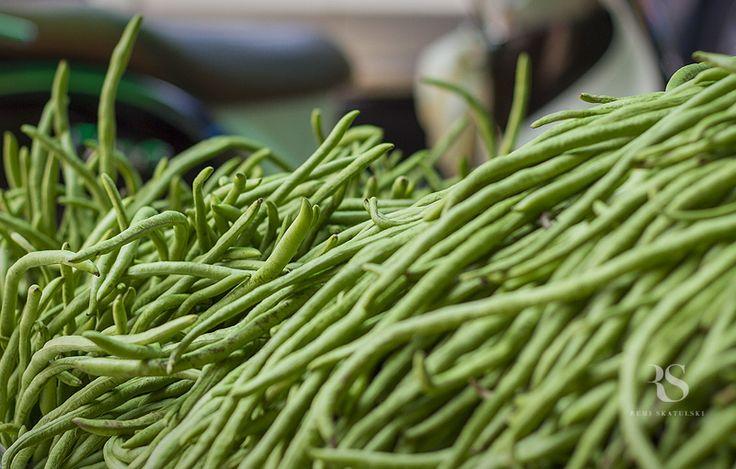 egzotyczne warzywa tropikalne owoce długa zielona fasola long green bean
