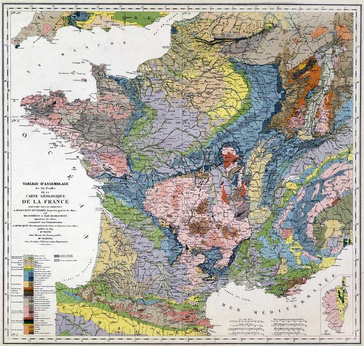 Jean GAUDANT Les cent-cinquante ans de la première carte géologique de France.