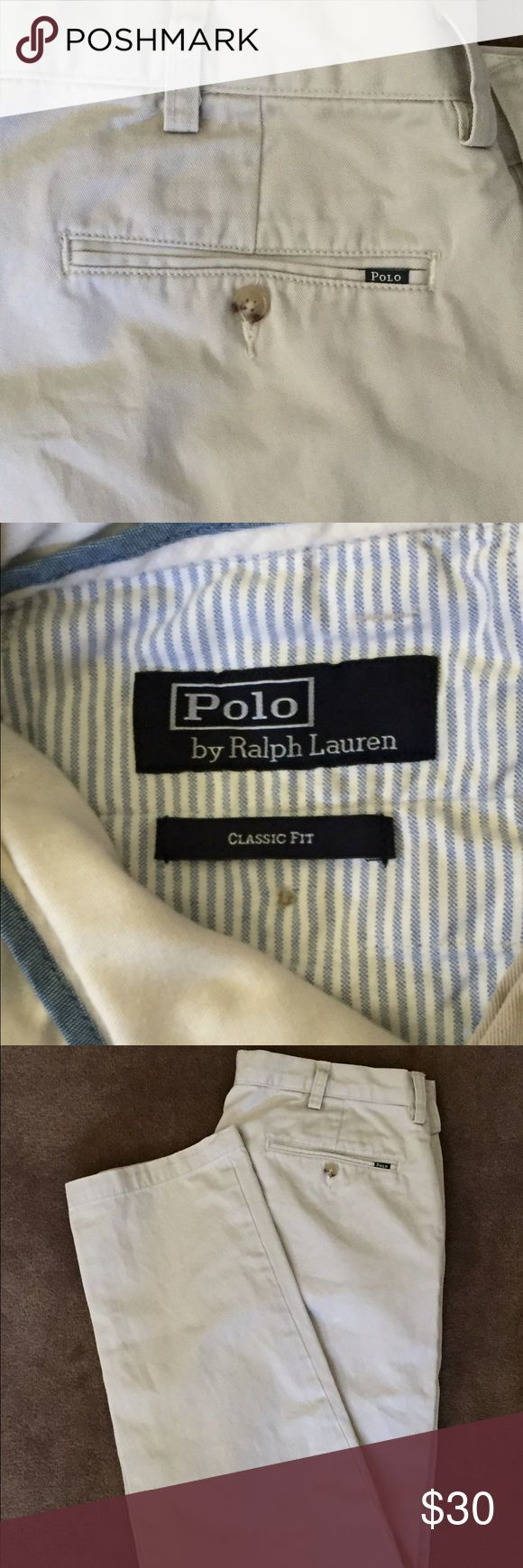 Men's Polo Khaki Pants Men's Polo khaki pants.  Size 34x32, classic fit.  Worn once.  Perfect condition. Polo by Ralph Lauren Pants Chinos & Khakis