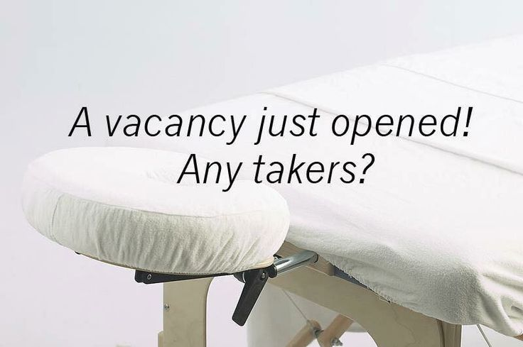 A vacancy just opened!...Any takers?... #Massage