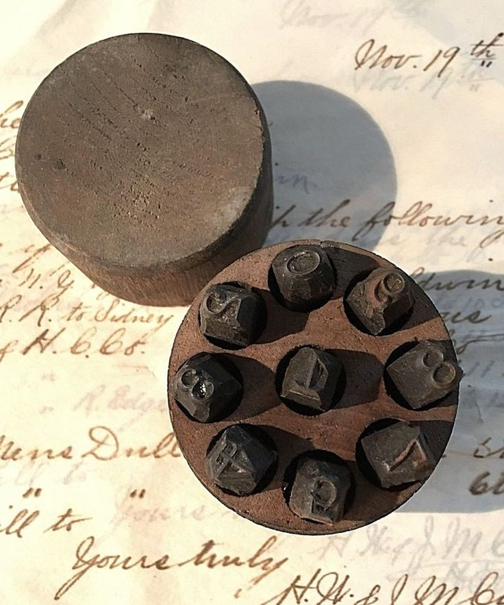 "Antique 1/4"" Machinist Die Steel Number Stamps * Large Number Type Punch Set"