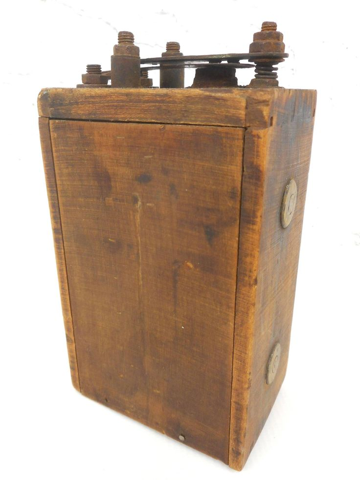 Antique Ford Model T and A Wood Case Buzz Ignition Coil, Wood and Brass, Signed Ford in Script