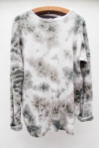 Army Tie Dye Pullover by Raquel Allegra $468 | shopheist.com